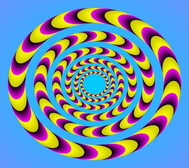 Гифка спираль для улучшения зрения, надписям
